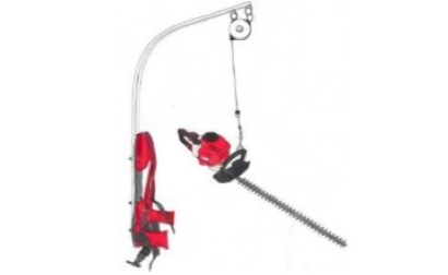 Elephant trunk backpack lift system